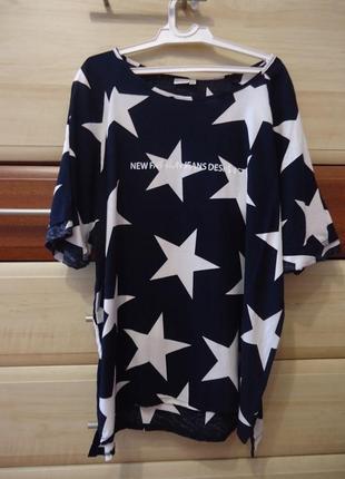 Футболка, блуза звезды. размер 48-50