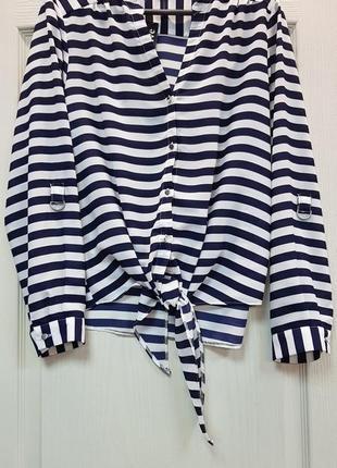 Рубашка в полоску m&co