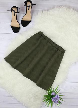 Фактурная юбка клеш на резинке