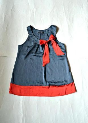 Легкая блуза с бантом (s-m)