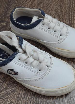 Оригинальные кроссовки lacoste ® размер: 21 uk 5 стелька 14 см.
