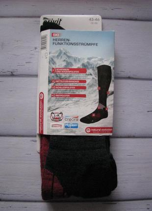 Зимние лыжные носки гольфы crivit германия размер 45-46