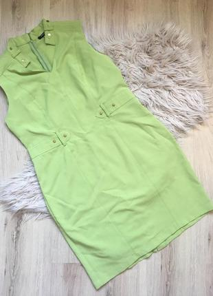 Яркое платье с имитацией пояса sharagano