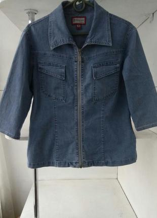Джинсовая голубая рубашка/пиджак/жакет за полцены