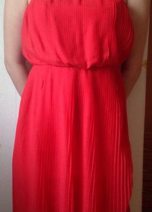 Яркое летнее платье zara