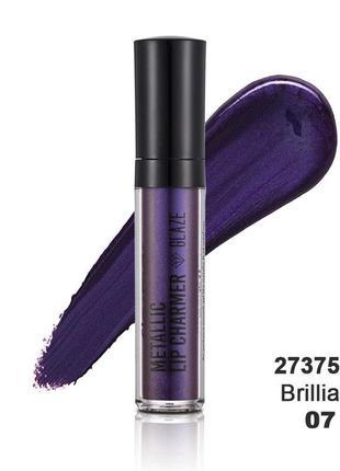 Помада flormar metallic фиолетовая 07 brilliant