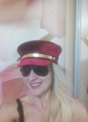 Стильная женская бархатная кепи от украинского бренда. картуз. фуражка. капитанка