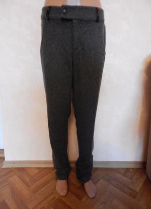 """Шерстяные, мягкие брюки с драпировкой фирмы """"baon"""""""