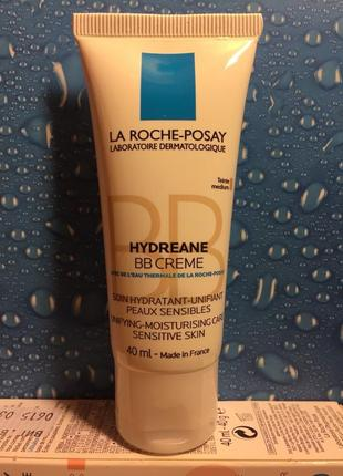 Увлажняющий bb крем для чувствительной кожи la roche posay hydreane bb cream тон medium