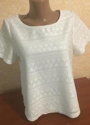 Белоснежная блуза футболка primark