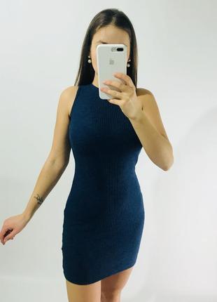 Платье в рубчик/платье мини/женское короткое платье в рубчик/платье atmosphere