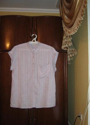 Рубашка next, вискоза, размер 20/48, коллекция декабрь 2017 года
