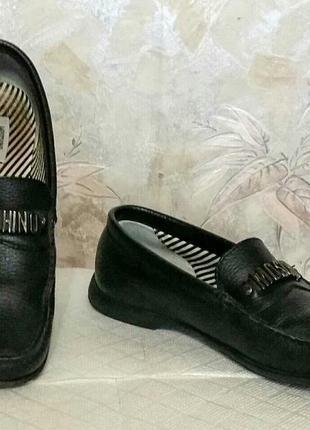 Туфли мокасины moshino кожа оригинал!
