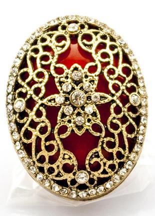 Крупное коктейльное кольцо шик1 фото