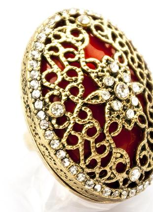 Крупное коктейльное кольцо шик2 фото