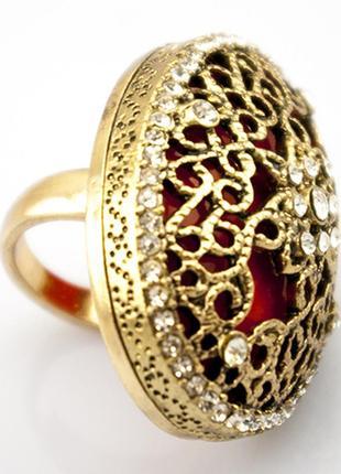 Крупное коктейльное кольцо шик4 фото