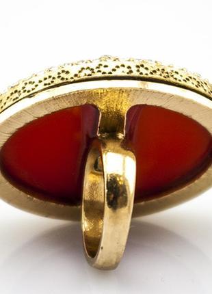 Крупное коктейльное кольцо шик5 фото