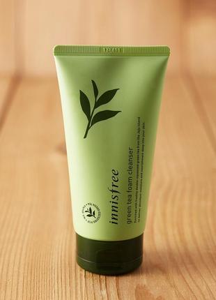 Пенка для умывания с зеленым чаем innisfree green tea foam cleanser