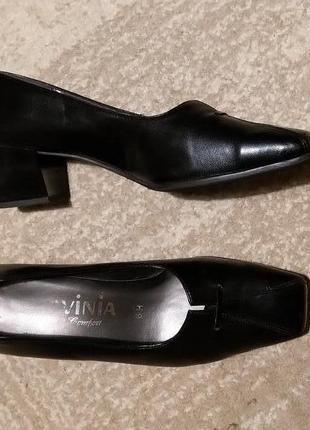 Туфли на удобном каблуке для узкой ножки стелька 25.8