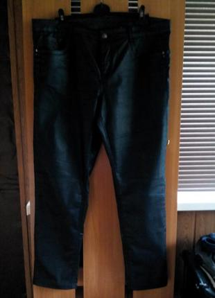 Супер брюки под кожу большого размера от m&s