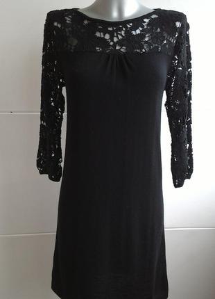 Нарядное шерстяное платье с кружевом dickins&jones