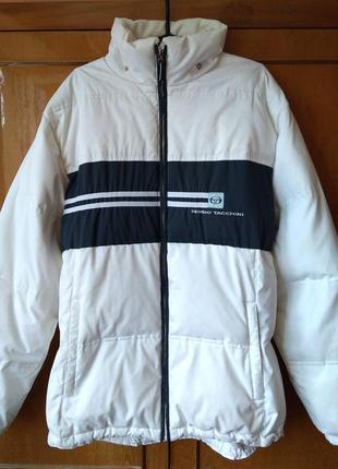 Пуховик куртка sergio tacchini с капюшоном размер l
