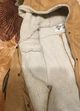 Теплая замшевая куртка