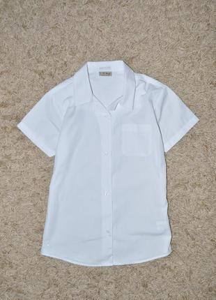 Белая рубашка, школьная блузка на девочку на 10 лет от next