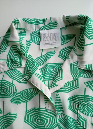 """Оригинальная  блуза с коротким  рукавом в принь """"зонтики""""4 фото"""