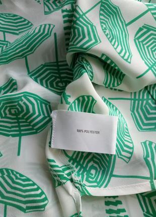 """Оригинальная  блуза с коротким  рукавом в принь """"зонтики""""5 фото"""