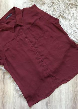Легкая блуза в цвете марсала