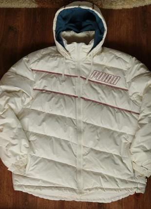 Мужская зимняя куртка на пуху puma, размер хл