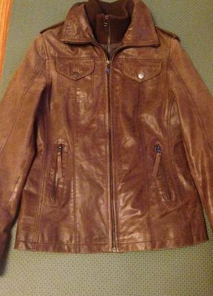 Очень крутая стильная кожаная куртка gipsy by mauritius