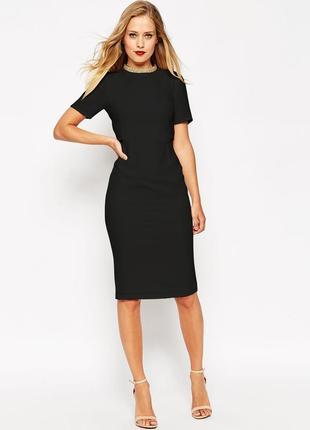 Платье футяр с коротким рукавом размер 8-10