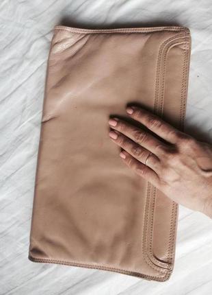 Сумка клатч из натуральной кожи