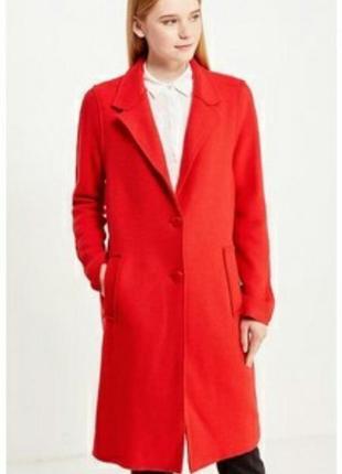 Классическое, красное, шерстяное пальто, длинное2 фото
