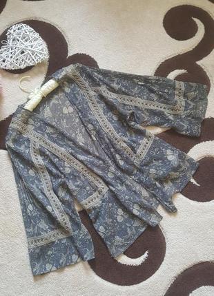 Шифоновое кимоно накидка кардиган болеро