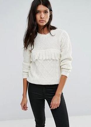 Стильный тёплый пуловер, свитер