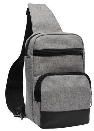 Мужская сумка на плечо : серая