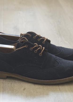 Мужские туфли броги замшевые zing оригинал осень