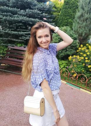 Блуза, блузка, рубашка, сорочка в горох, оверсайз