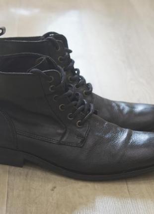Мужские кожаные ботинки осень river island оригинал