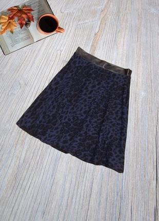 Аккуратная юбка солнце-клеш с элементами из эко-кожи new look