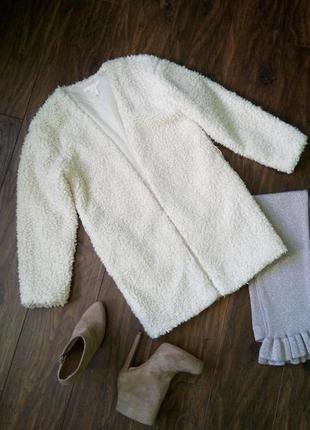 Крутое пальто-шуба (накидка) h&m