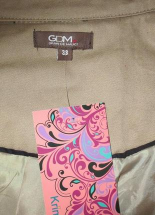 Тренч-куртка бежевая от gdm идеальна для базового гардероба размер: 50-l, xl3 фото