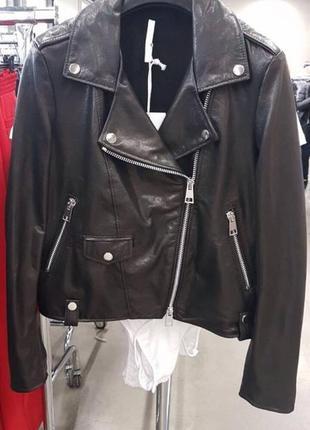 Куртка косуха натуральна шкіра виробник італія