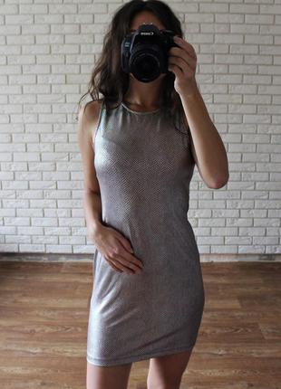 Мини платье с открытой спиной asos