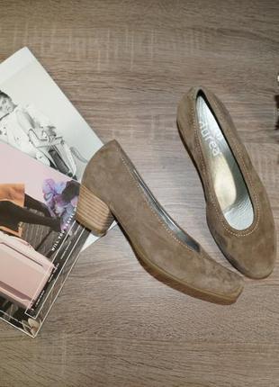 Durea! замша/кожа! туфли в классическом стиле на удобном каблуке