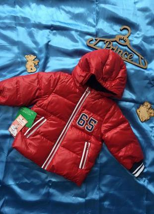 Куртка benetton 1-2, 4-5 лет