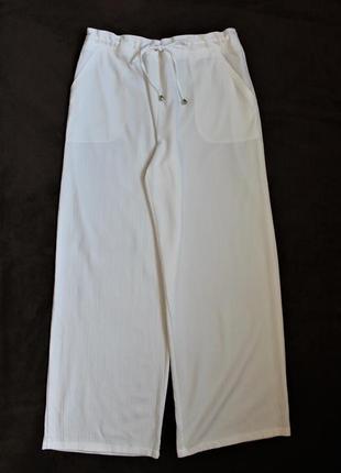 Белые штанишки, клеш от бедра от papaya, размер xl